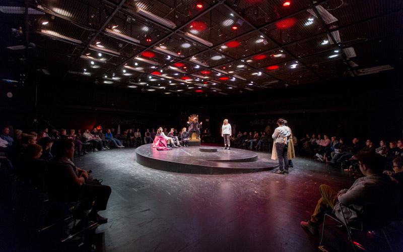circular performance in black box theatre