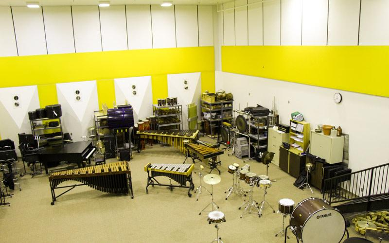 band rehearsal room